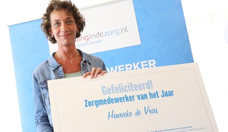 Henrieke de Vries is Zorgmedewerker van het Jaar! 1